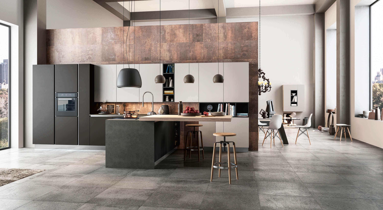 Decoracion de cocinas modernas en zaragoza blunni for Salon cocina moderno