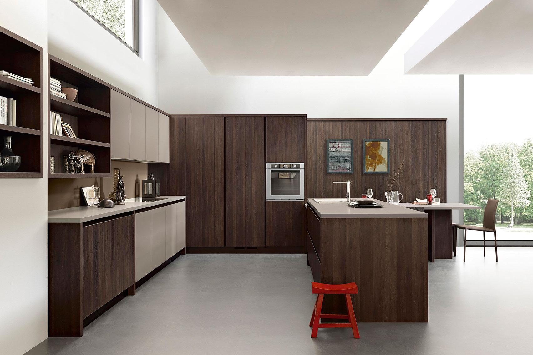 La madera en cocina for Cocinas de diseno precios