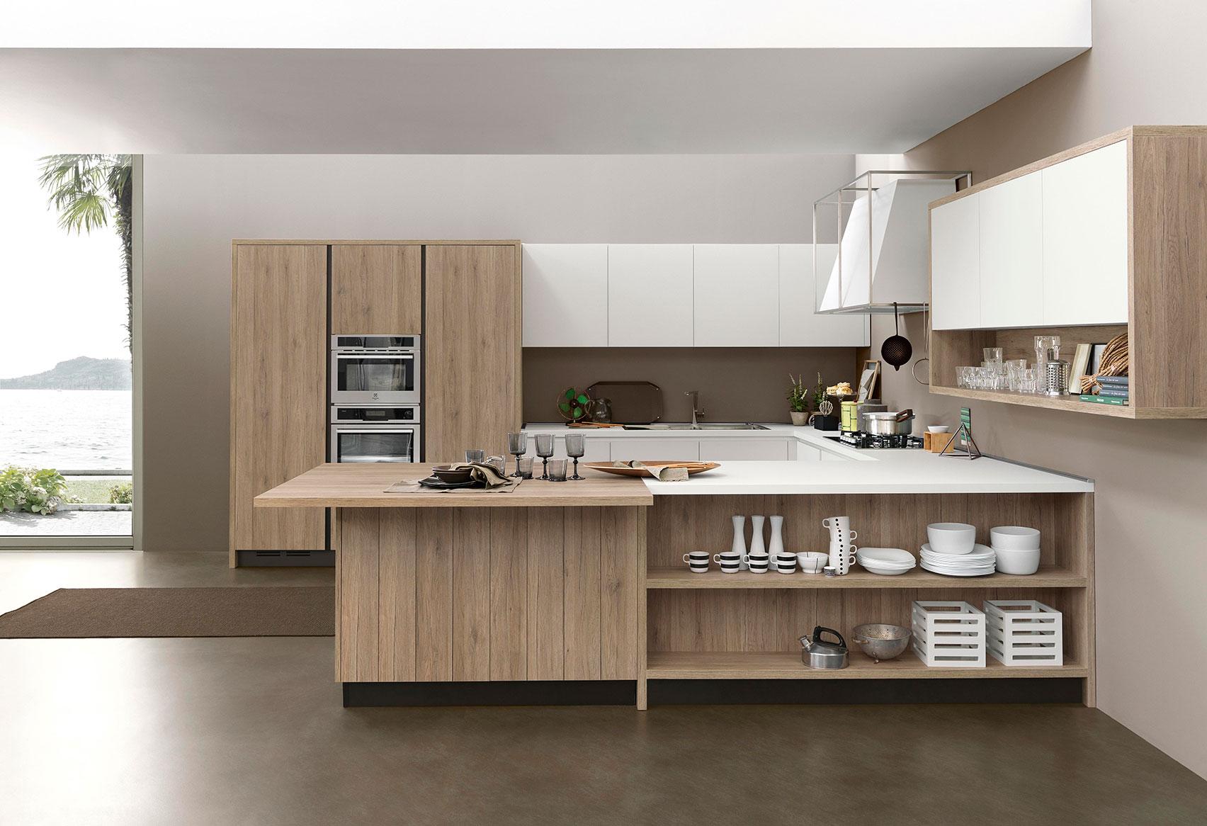 La madera en cocina - Cocinas de madera modernas ...