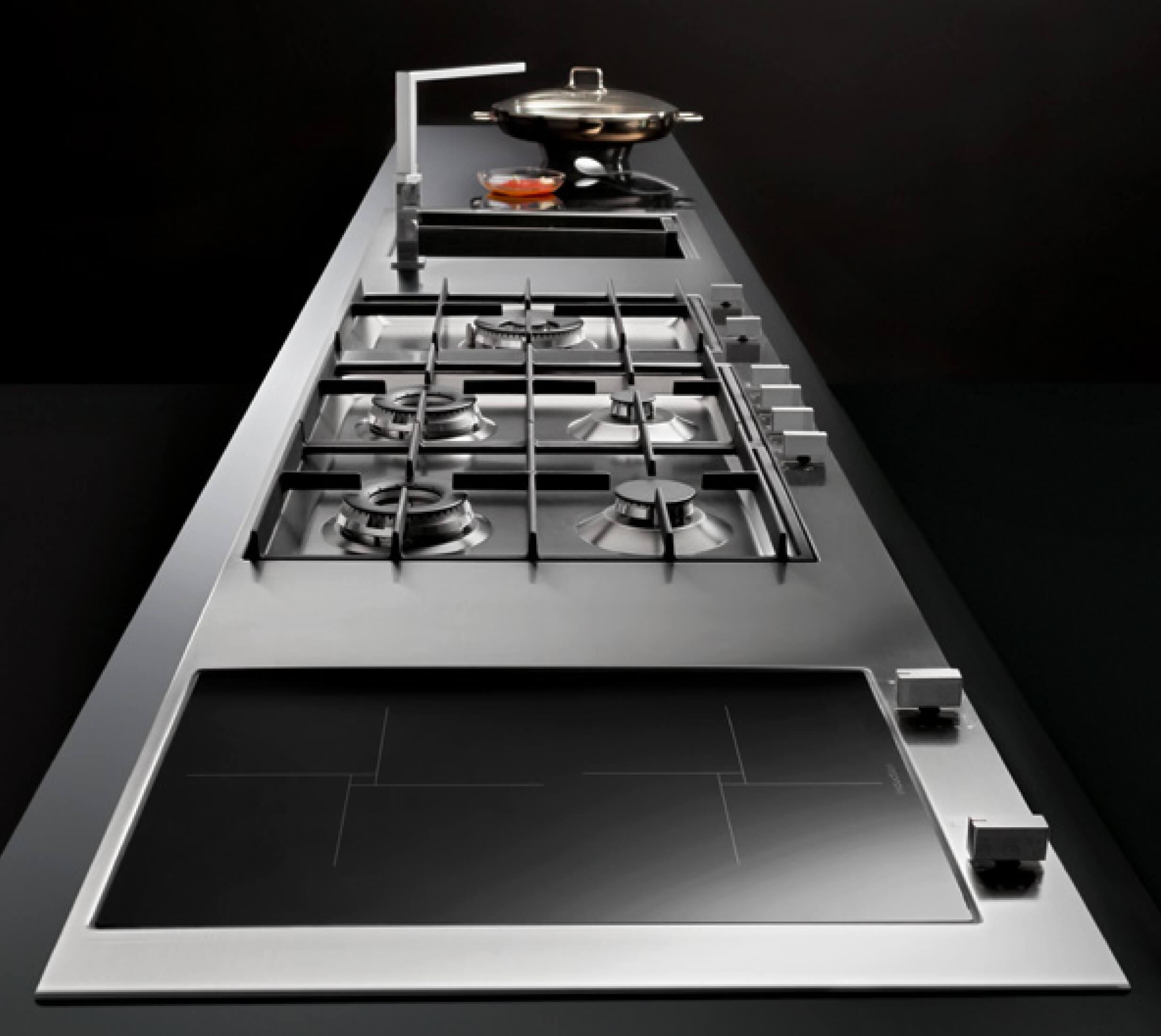 Encimeras de cocina en acero for Encimera acero