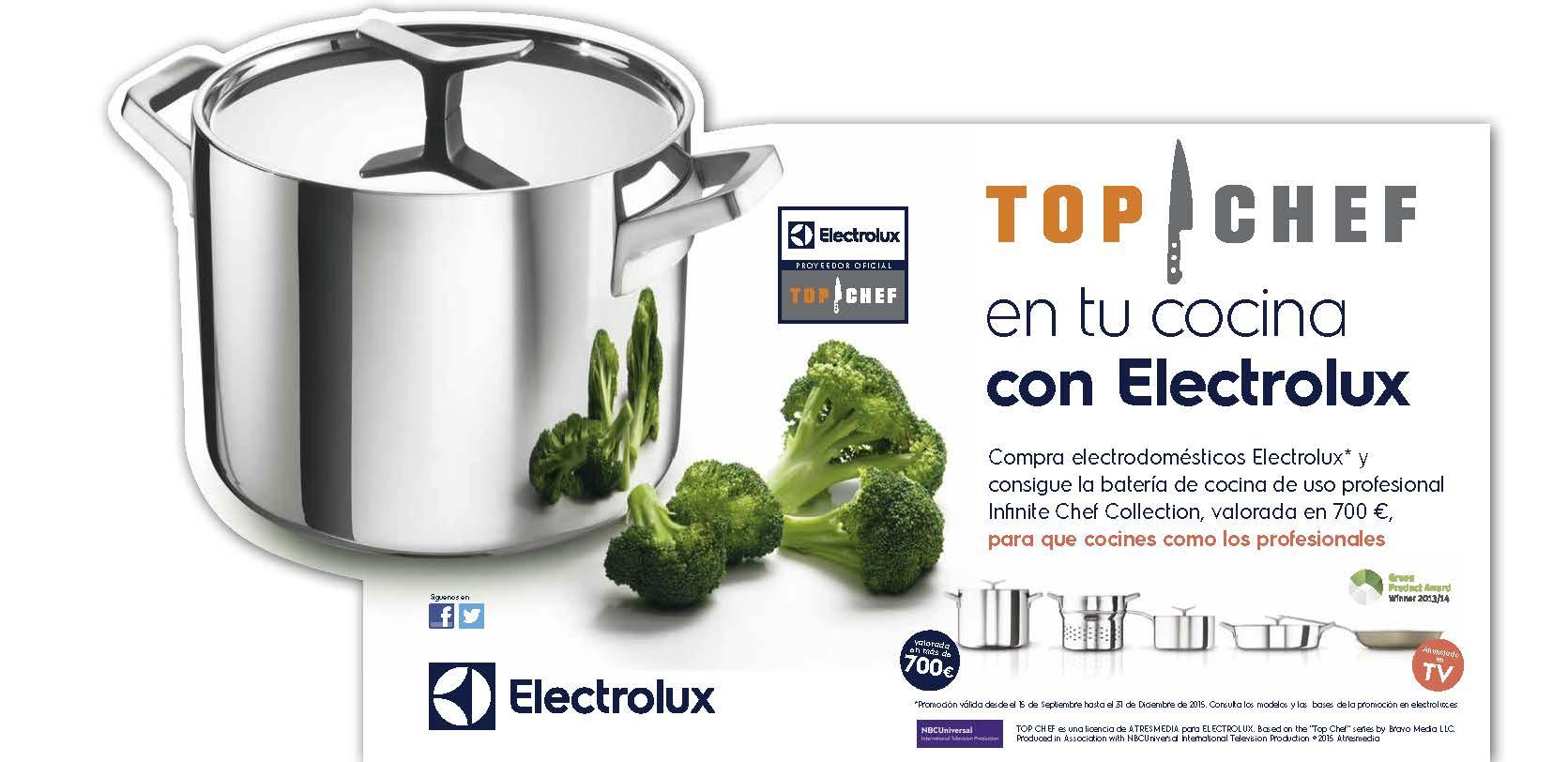 Promocion 2 Regalo Bater A Electrolux Infinite Chef Collection  ~ Baterias De Cocina Para Placas De Induccion