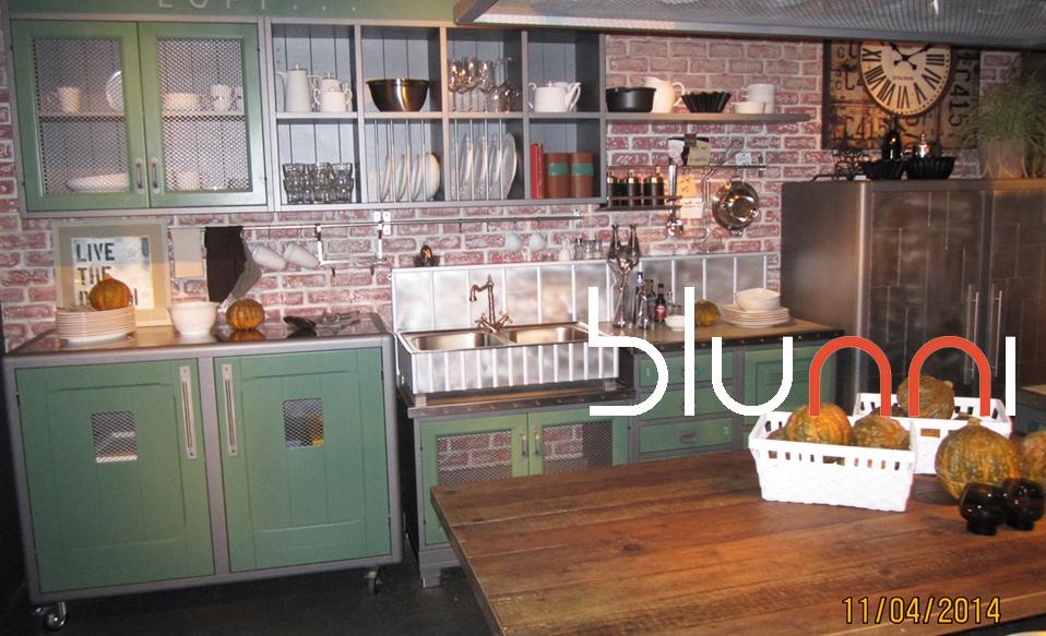 Cocina industrial cocina vintage cocina retro for Muebles de cocina vintage